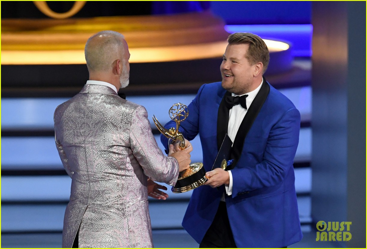 jimmy kimmel and james corden present at the emmys 2018 184148997