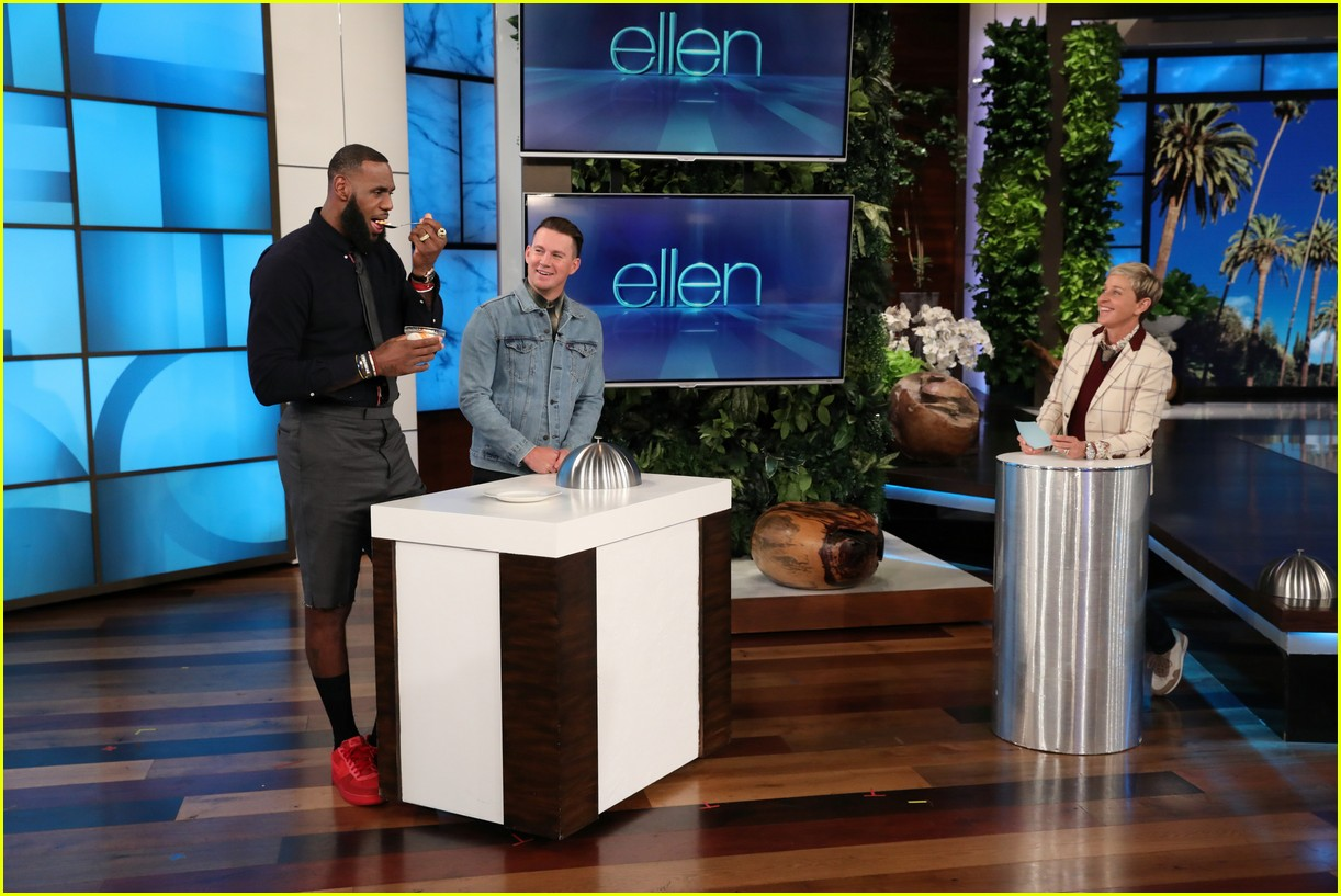 82453920fa57 LeBron James   Channing Tatum Do Ridiculous Dares on  Ellen  - Watch Now!