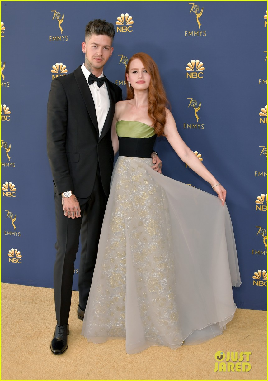 0eb0d1140c0a5 Riverdale s Madelaine Petsch   Travis Mills Couple Up For Emmy Awards 2018