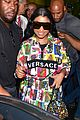 nicki minaj dons colorful outfit while arriving in brazil 03