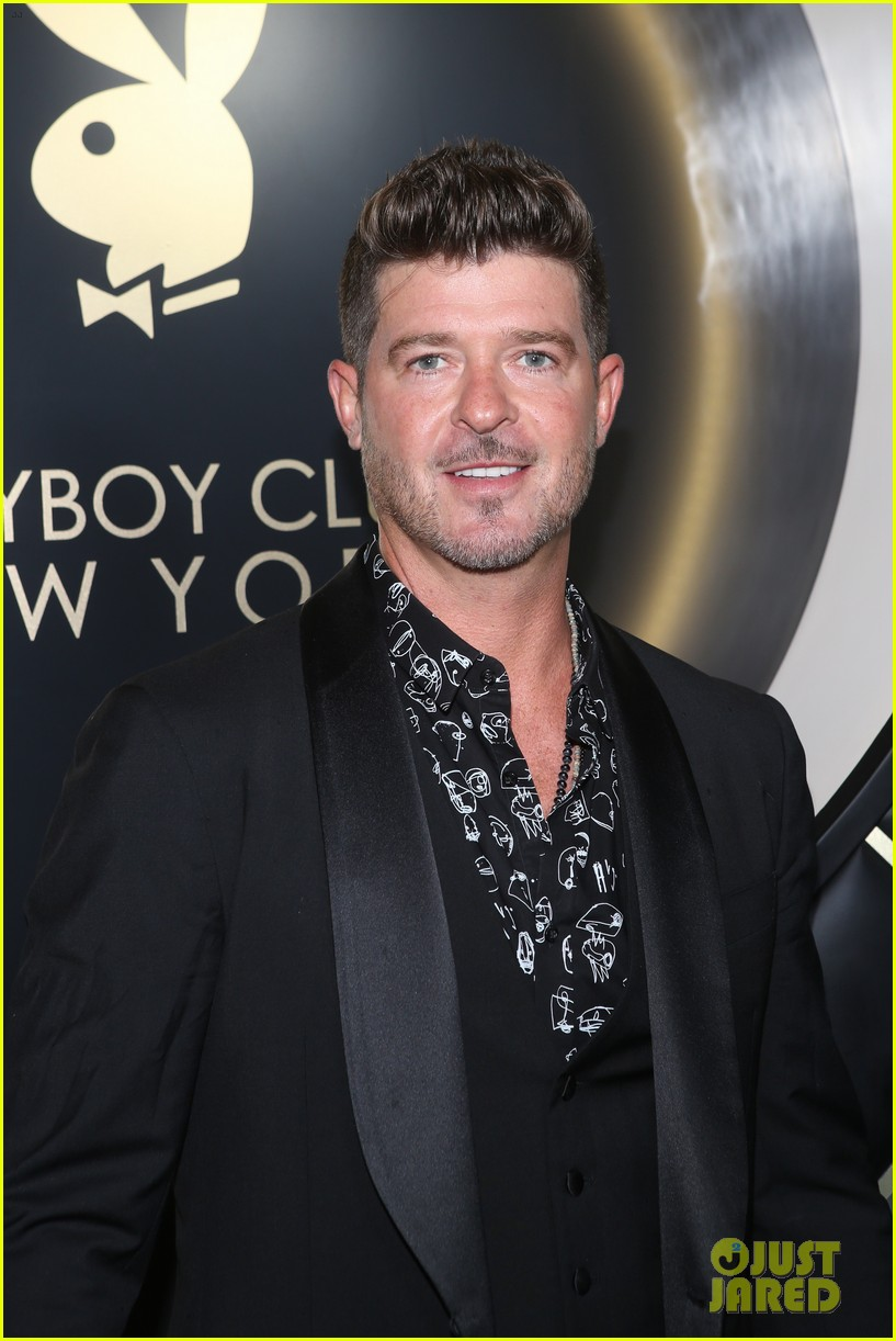 Robin Thicke Attends Playboy Club Opening Party in New York City ...