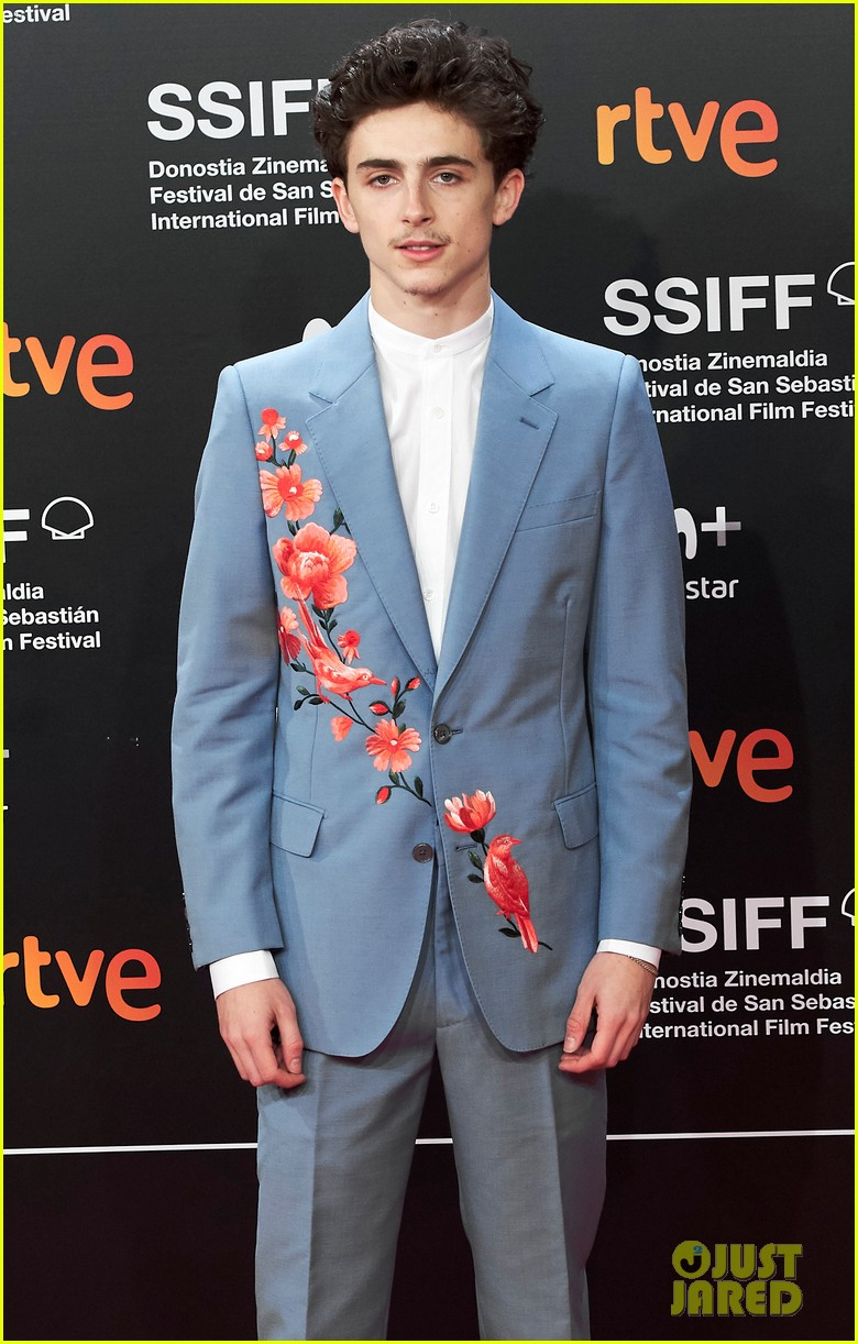 Timothee Chalamet Goes Floral at 'Beautiful Boy' Premiere ...