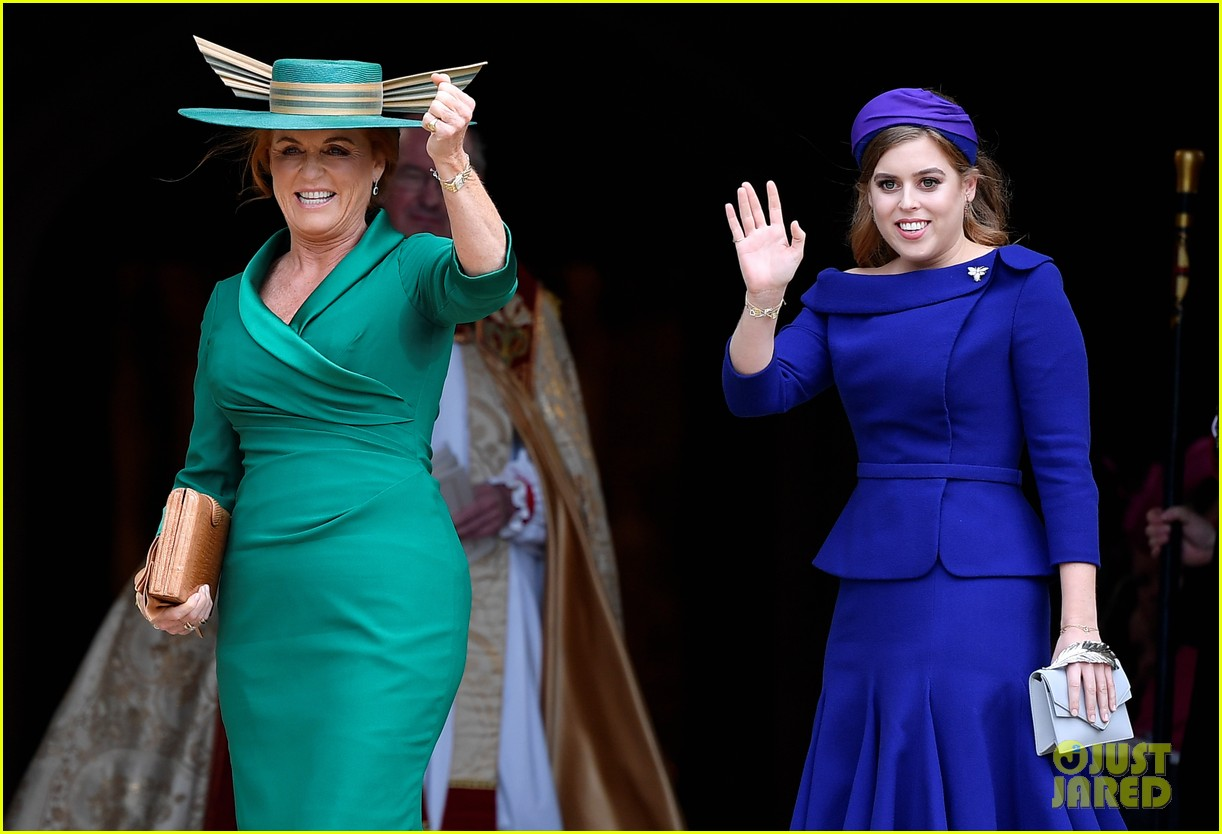 Princess Beatrice & Sarah Ferguson Add Pops of Color to ... Fergie At Eugenia S Wedding