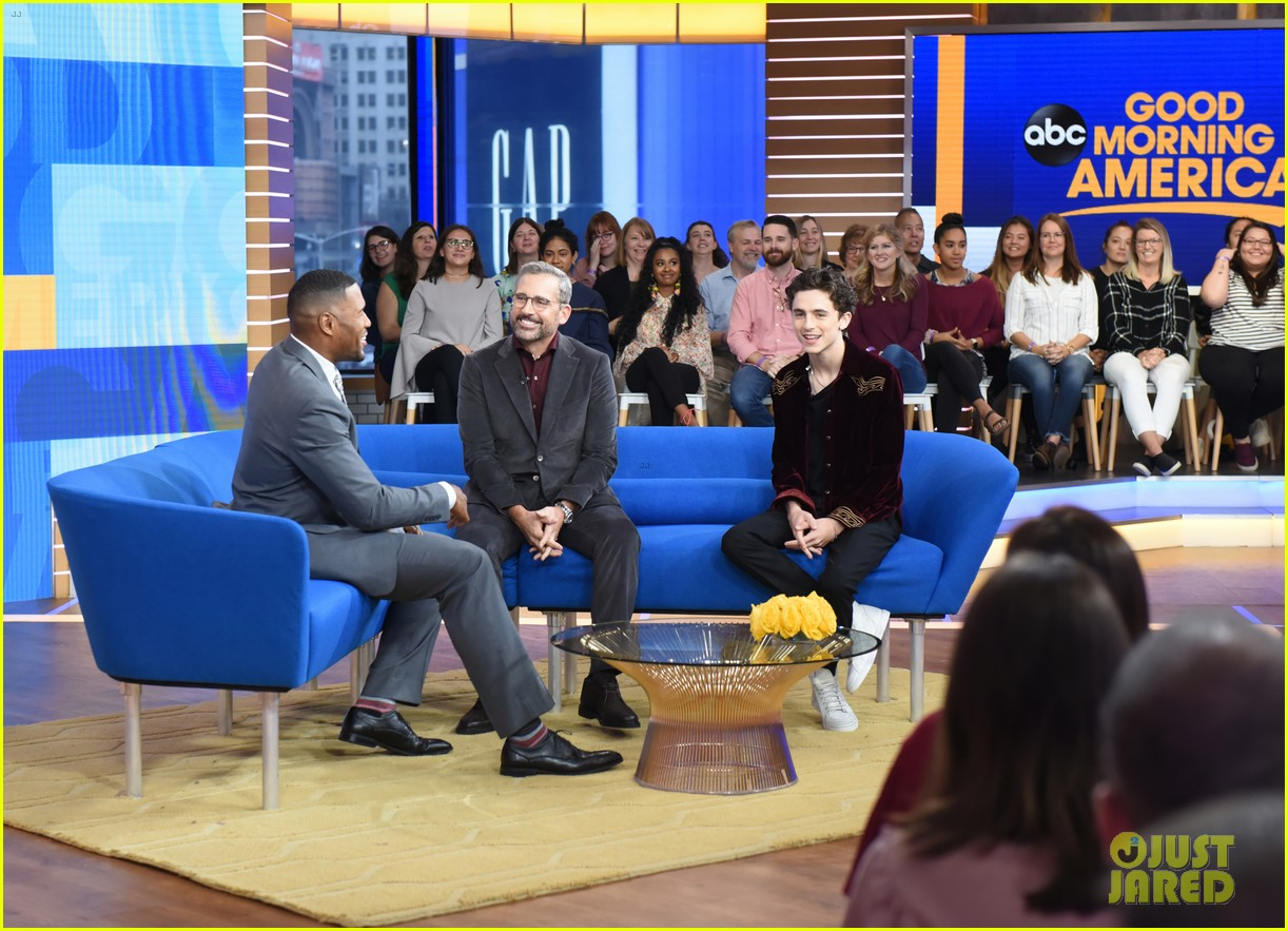 timothee chalamet steve carell good morning america 014162756