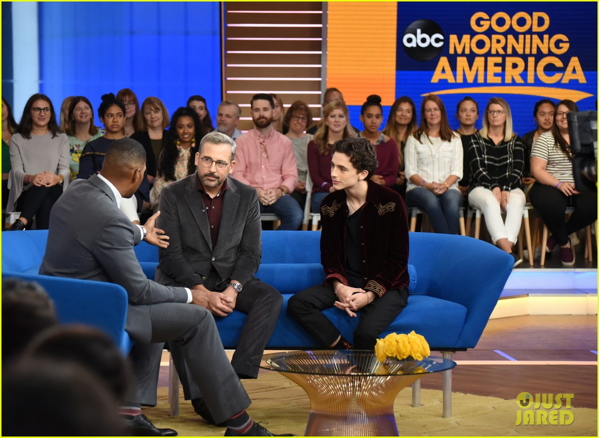 timothee chalamet steve carell good morning america 034162758