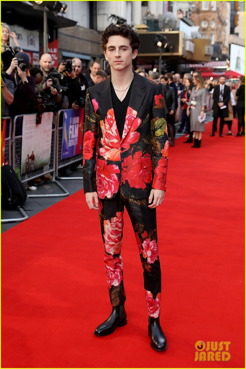 Timothee Chalamet Wears Floral Print Suit To Beautiful Boy UK Premiere Photo 4164289 Steve