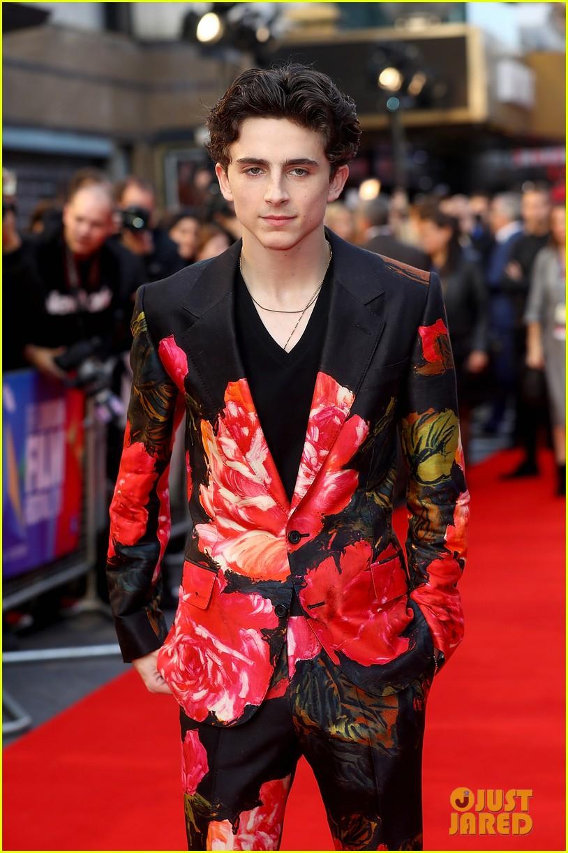 Timothee Chalamet Wears Floral-Print Suit to 'Beautiful ...