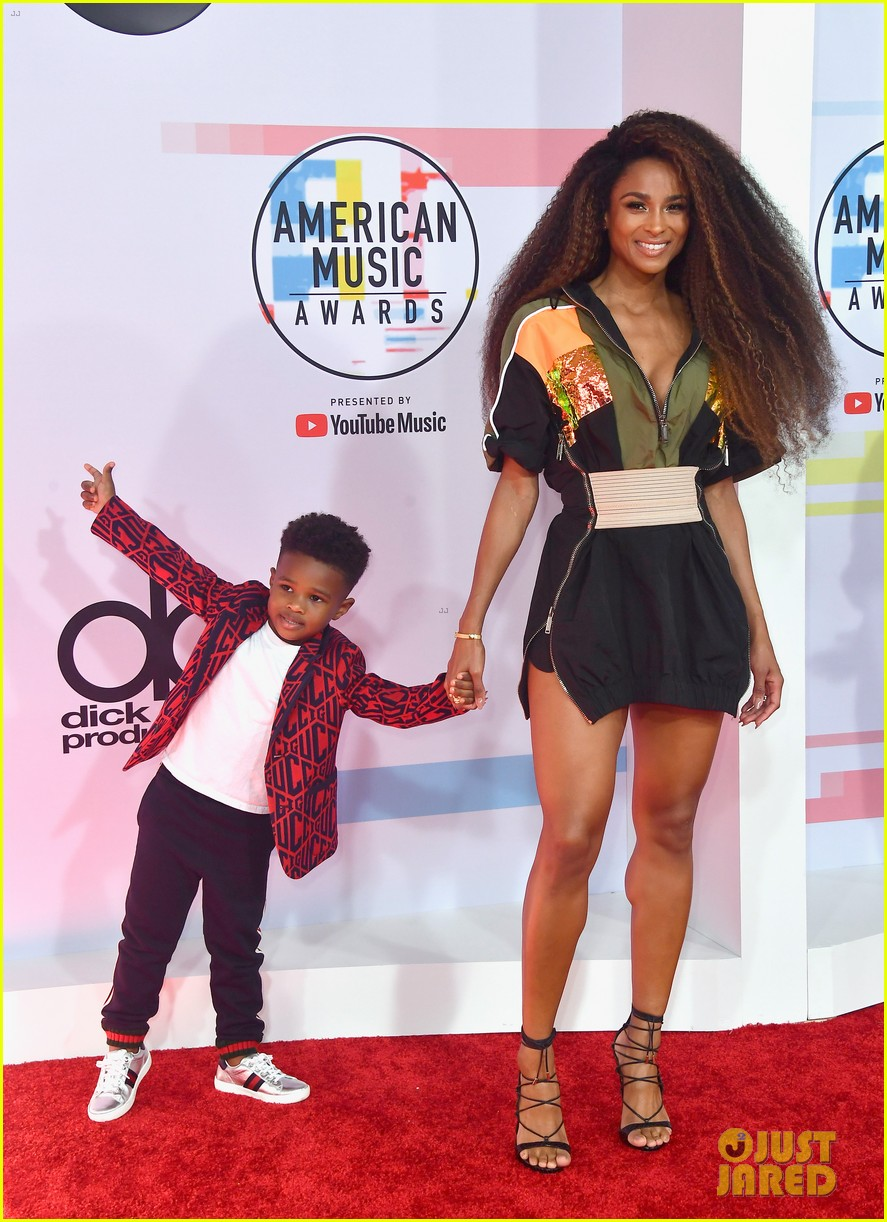 Ciara in DSquared2 & her son Future Zahir - American Music ...