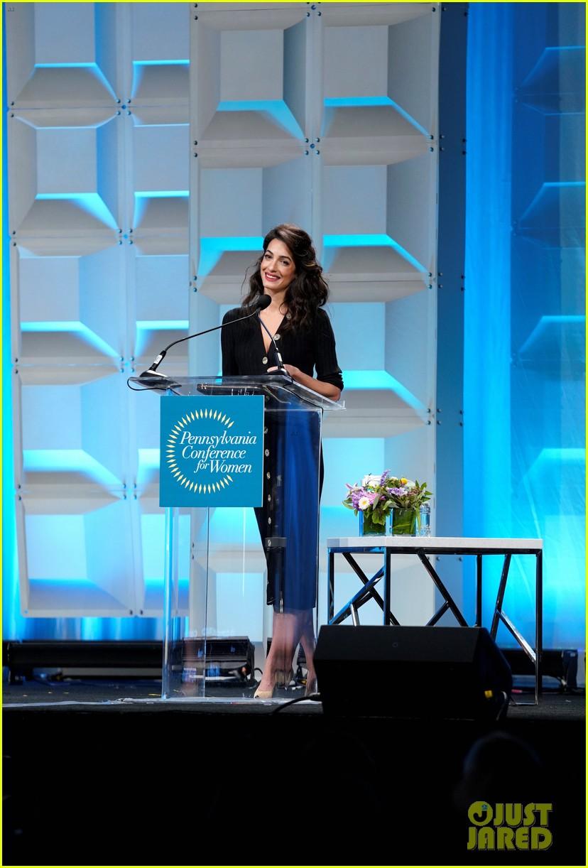 Amal Clooney Misses Royal Wedding to Headline Pennsylvania