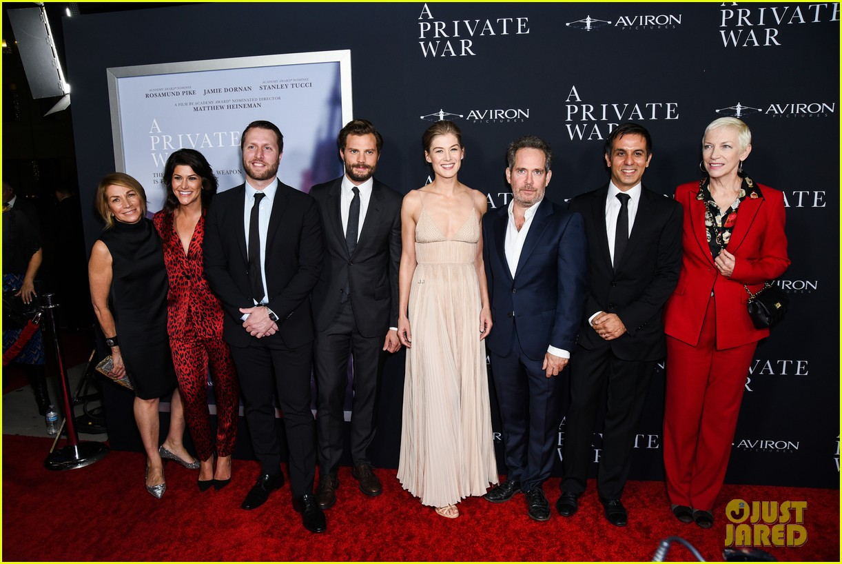 jamie dornan rosamund pike step out for a private war los angeles premiere 044170231