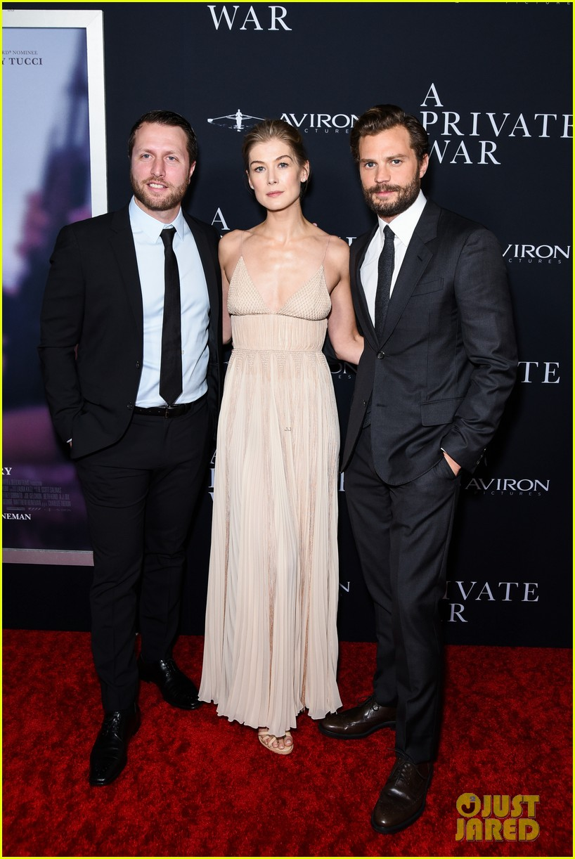 jamie dornan rosamund pike step out for a private war los angeles premiere 094170236