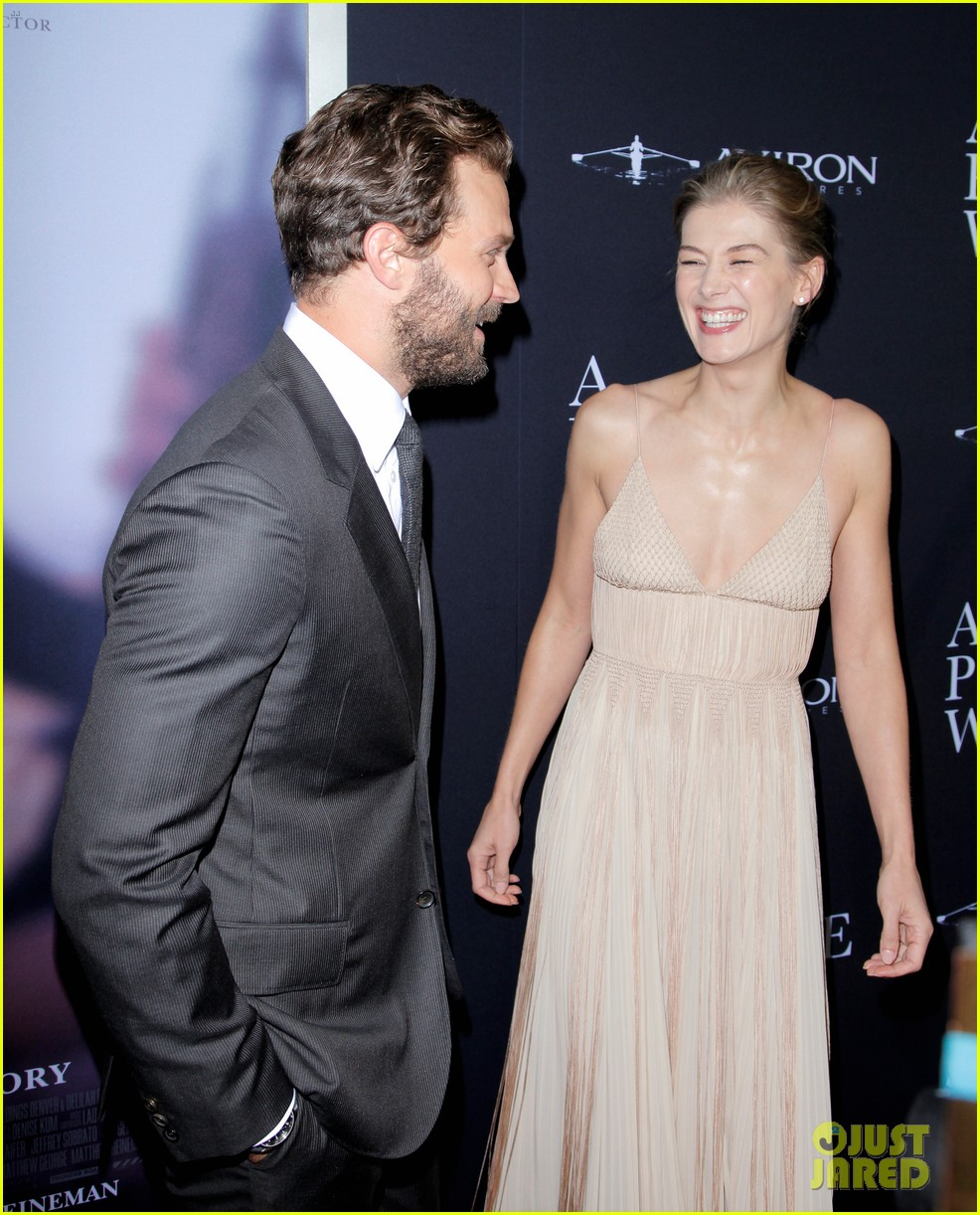 jamie dornan rosamund pike step out for a private war los angeles premiere 154170242