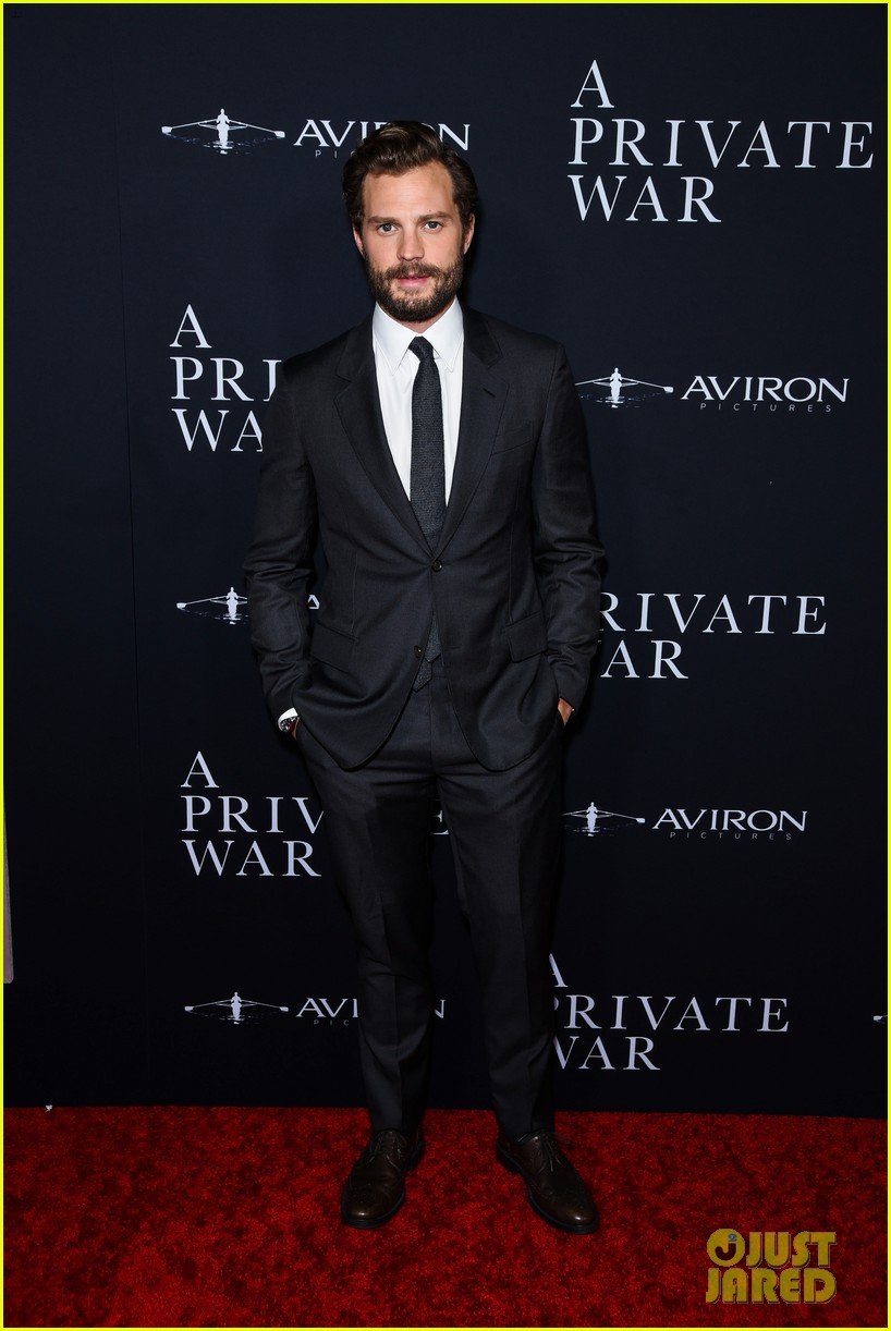 jamie dornan rosamund pike step out for a private war los angeles premiere 224170249