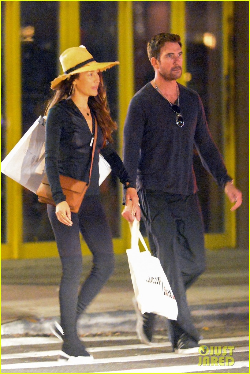 dylan mcdermott maggie q step out for late night shopping in nyc 02