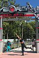 justice leagues ray fisher tests out six flags cyborg ride