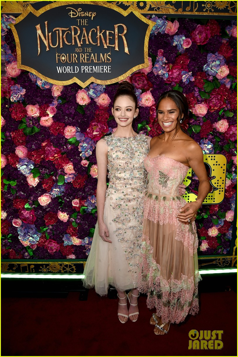 mackenzie foy and misty copeland are fresh in floral at nutcracker premiere 09