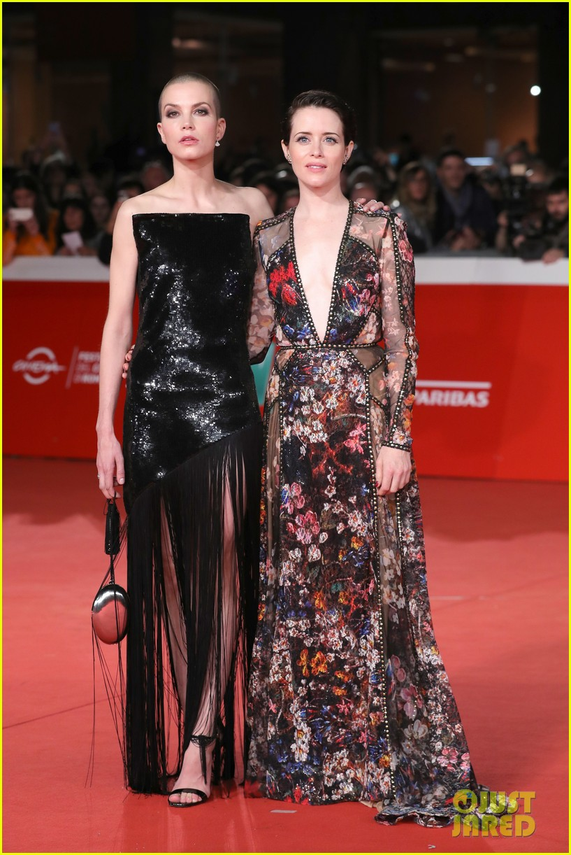 claire foy sylvia hoeks hit red carpet the girl in the spiders web at rome film fest 014170257