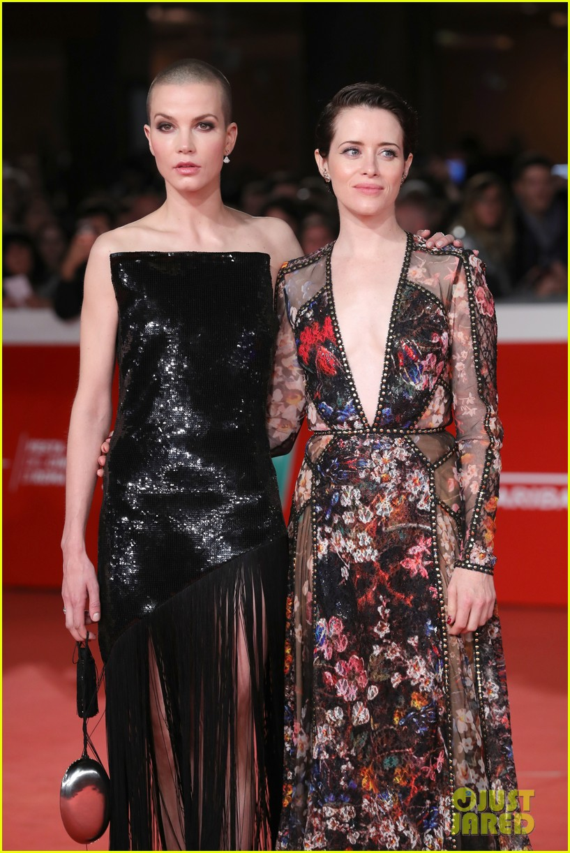 claire foy sylvia hoeks hit red carpet the girl in the spiders web at rome film fest 054170261