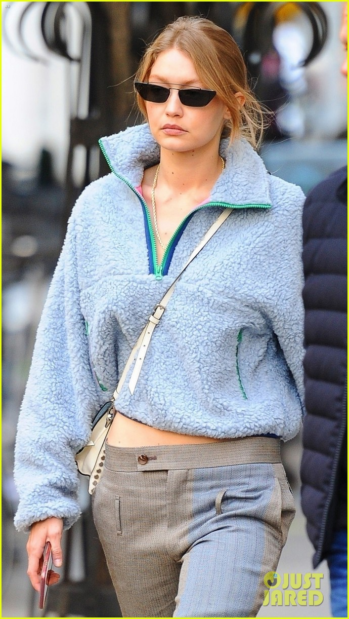 Gigi Hadid Dons Cozy Fleece Sweater After Sending Message to