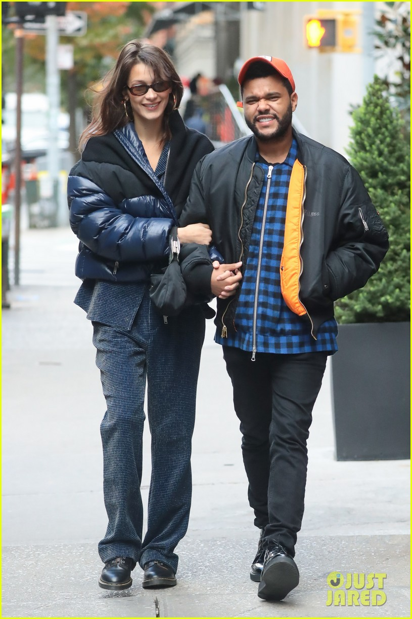 bella hadid and the weeknd are all smiles while strolling in nyc 034172773