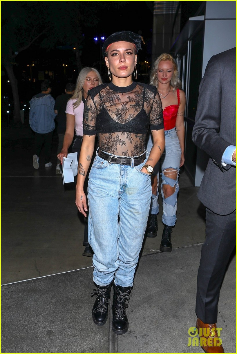 halsey steps out for aubrey the three amigos tour 054164447