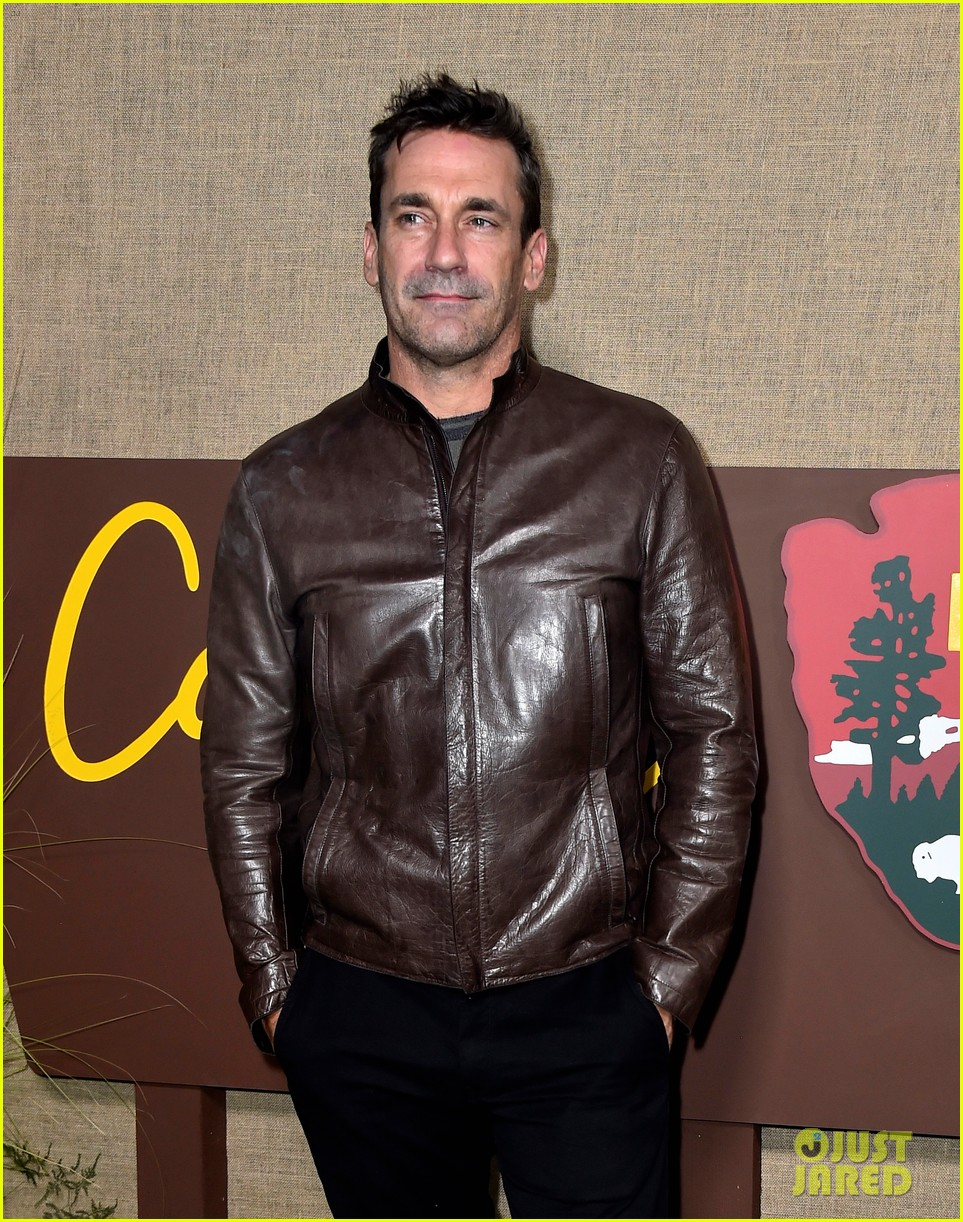 jon hamm busy philipps camping premiere 114162883