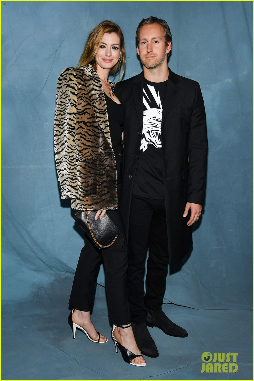 anne hathaway adam shulman couple up at star studded givenchy paris 224156733