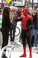 tom holland dons spider man far from home costume while filming with zendaya in nyc208
