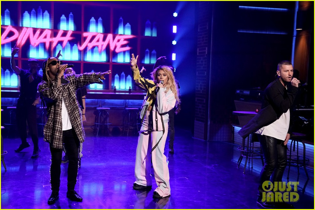 dinah jane gives solo debut performance of bottled up on tonight show 034161468