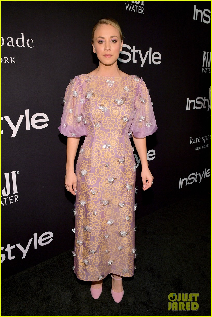 kaley cuoco lea michele instyle awards 2018 014169010