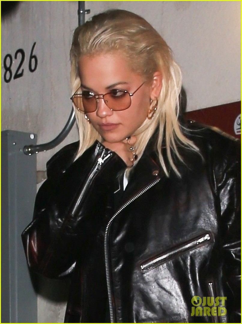 rita ora rocks leather outfit for dinner in weho 024164439