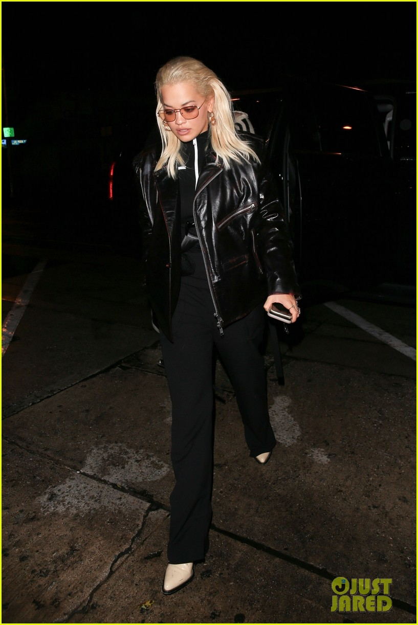 rita ora rocks leather outfit for dinner in weho 034164440