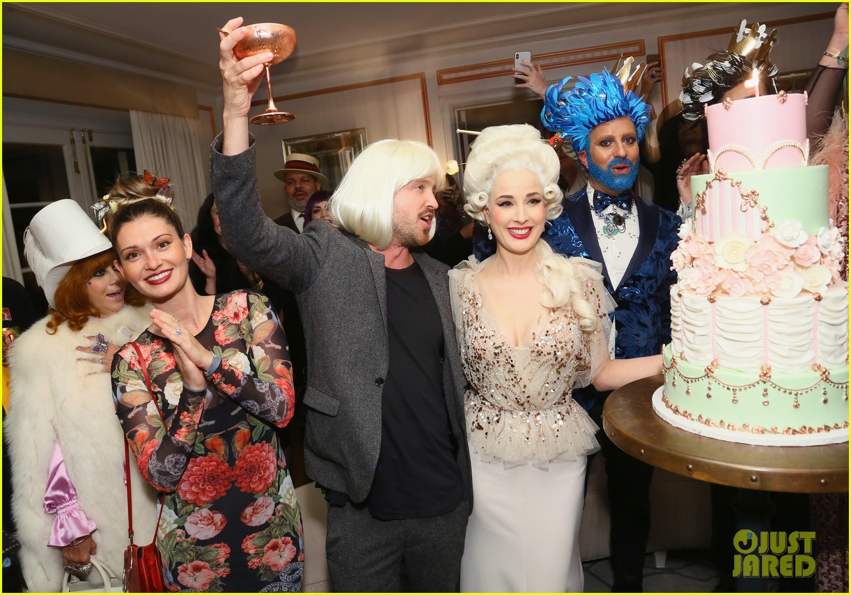 aaron paul dita von teese birthday party 014157341