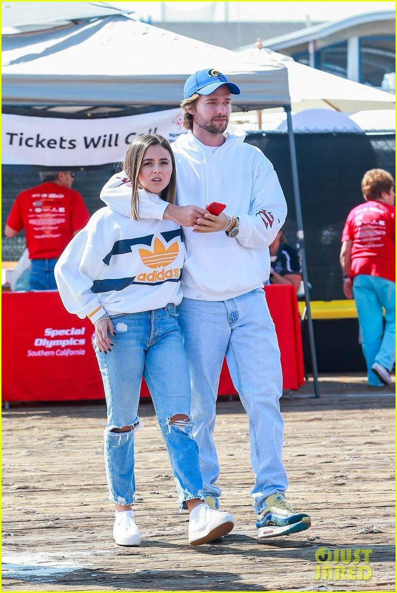 Patrick Schwarzenegger Wraps Arms Around a Friend While Out With