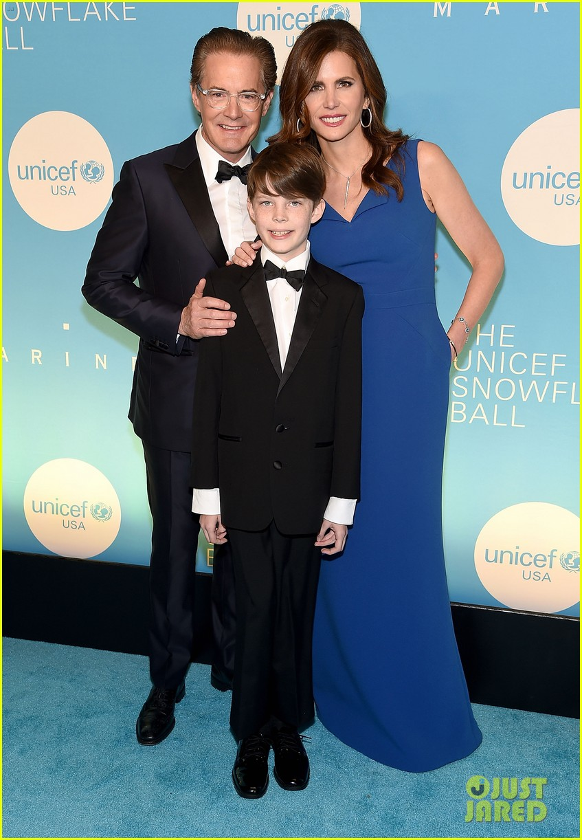 alyssa milano is joined by husband dave bugliari son milo at unicef snowflake ball 114188829