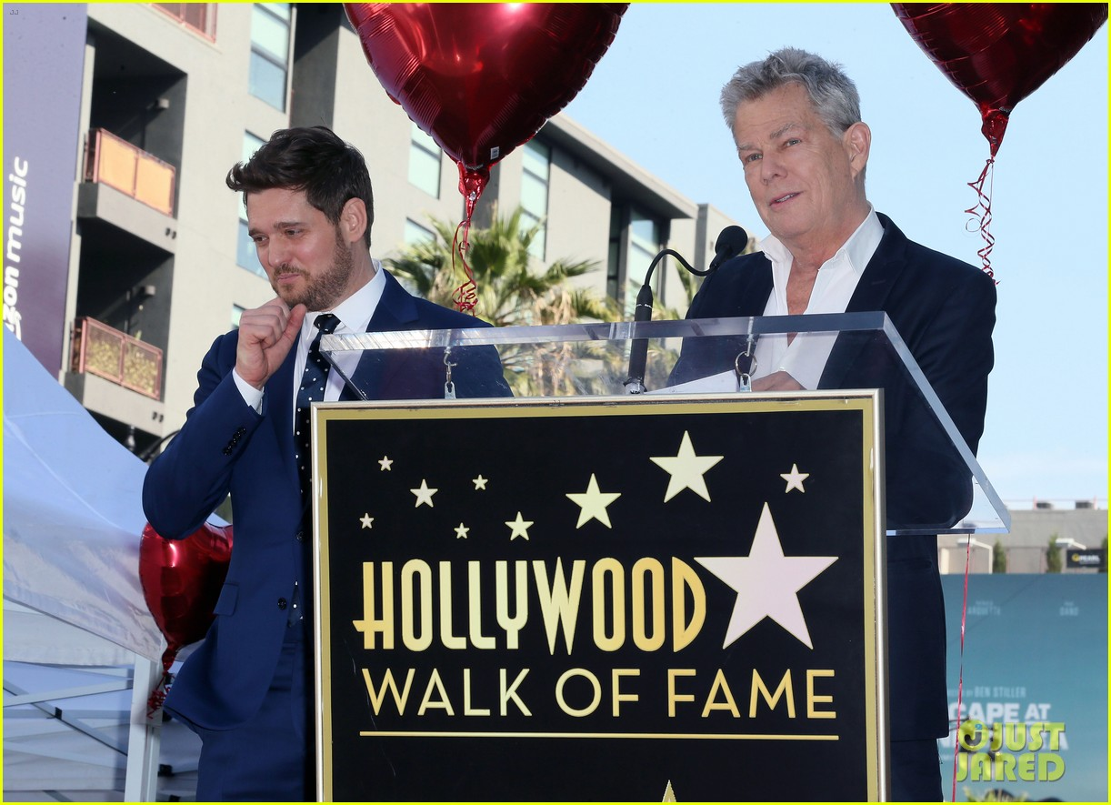 michael buble gets his star at hollywood walk of fame ceremony 044183814