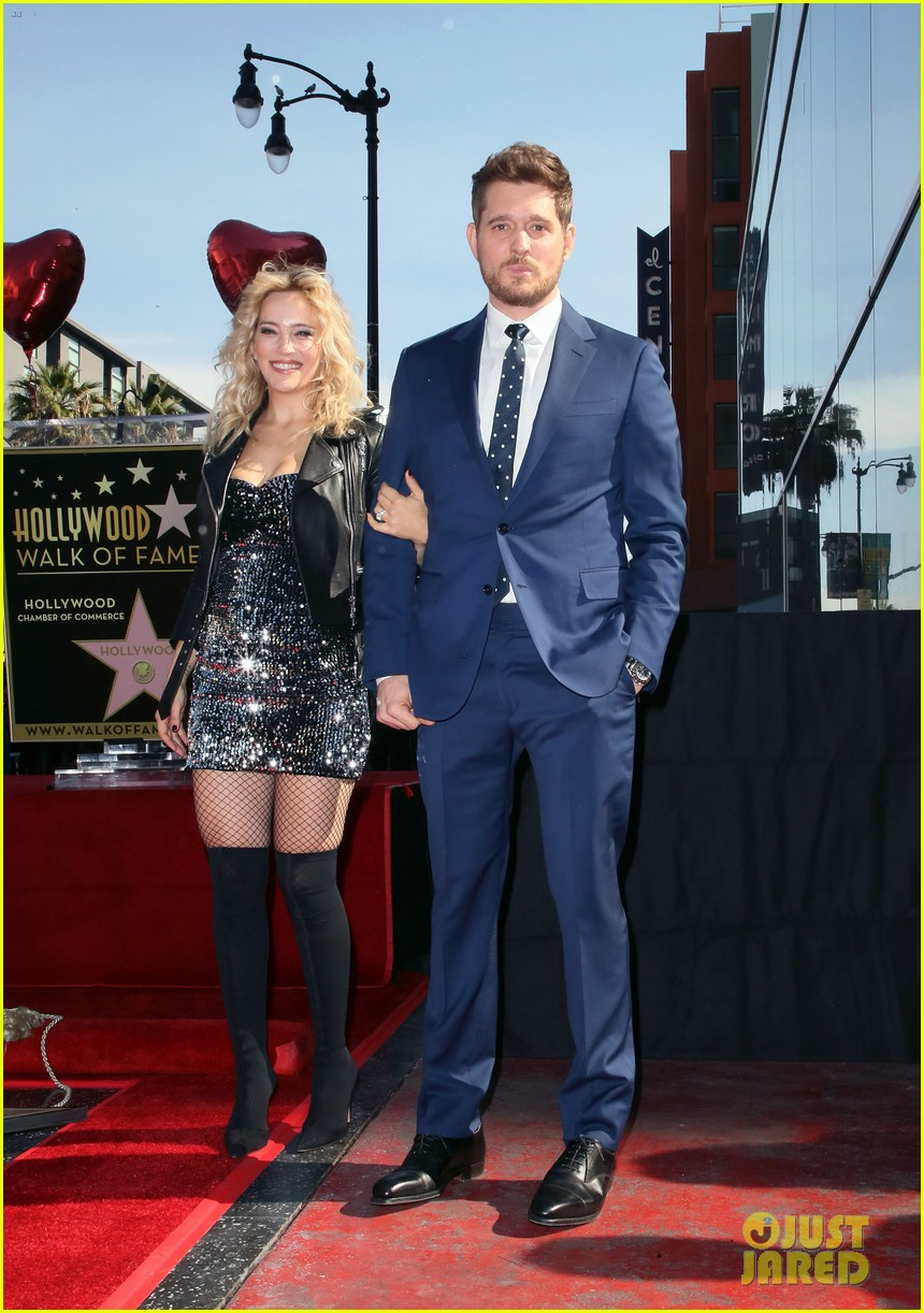 michael buble gets his star at hollywood walk of fame ceremony 064183816