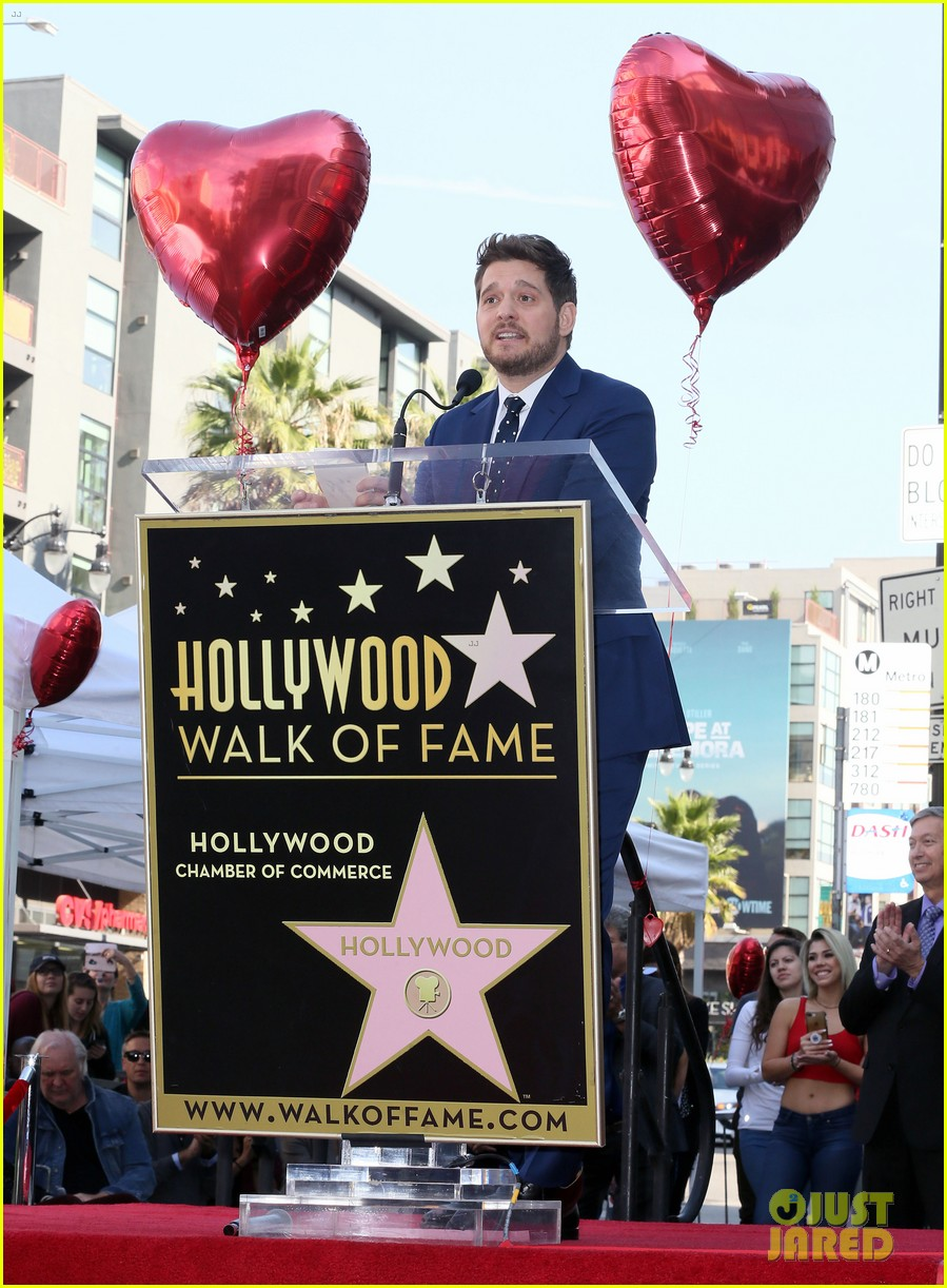 michael buble gets his star at hollywood walk of fame ceremony 184183828