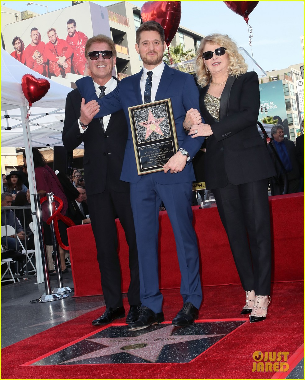 michael buble gets his star at hollywood walk of fame ceremony 204183830