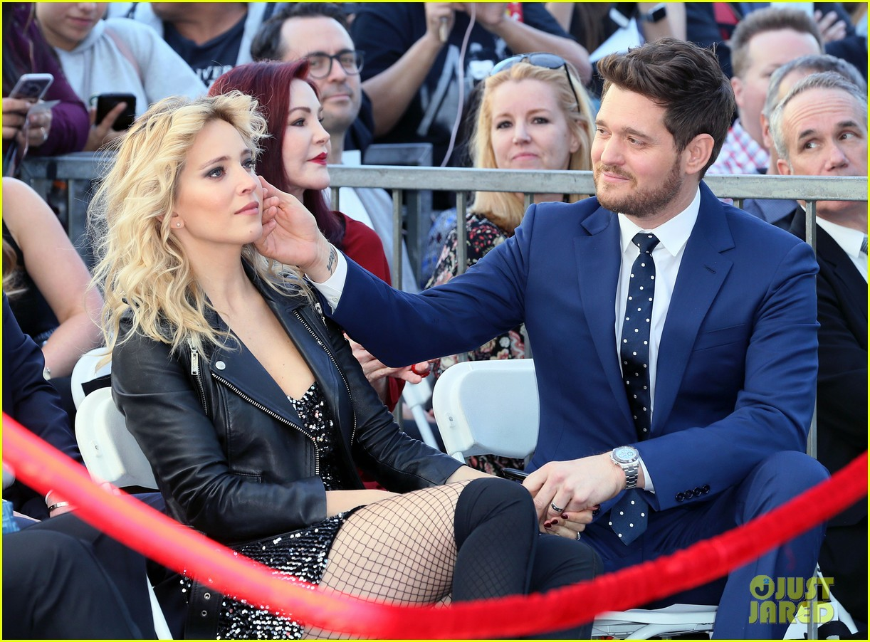 michael buble gets his star at hollywood walk of fame ceremony 234183833