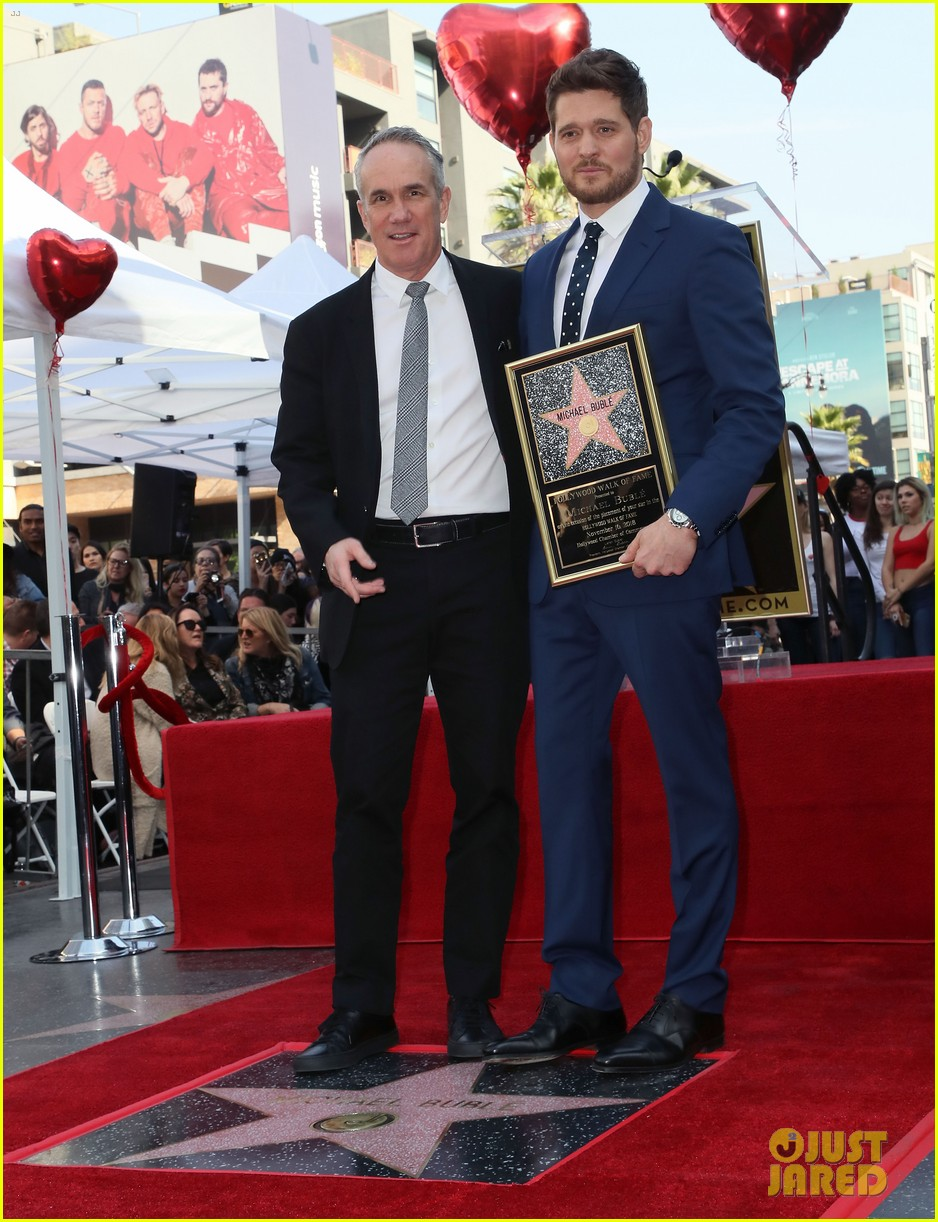 michael buble gets his star at hollywood walk of fame ceremony 294183839