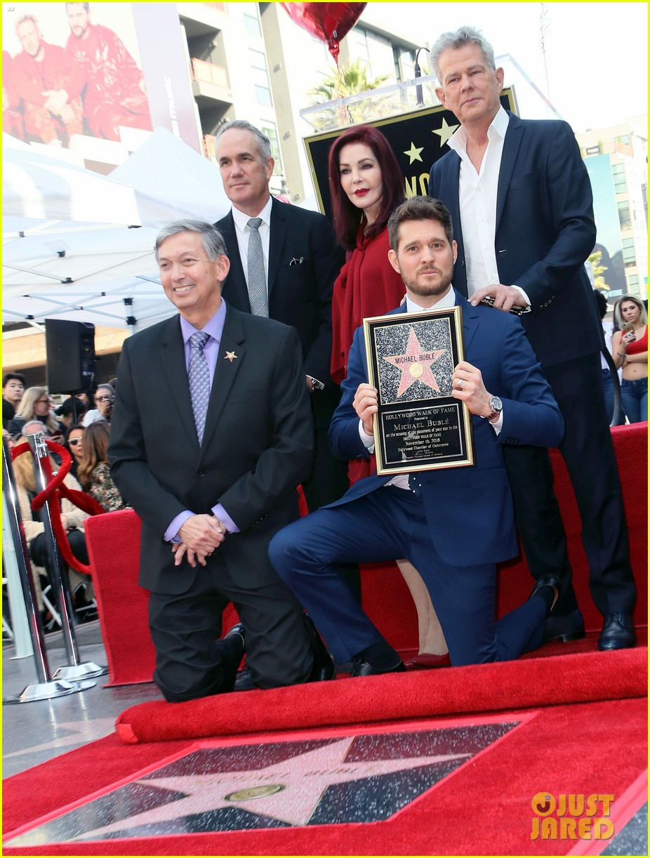 michael buble gets his star at hollywood walk of fame ceremony 334183843