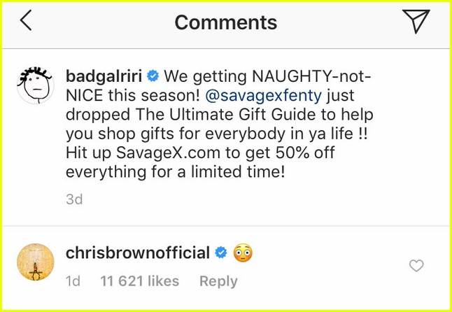 chris brown leaving comments for rihanna 024187896