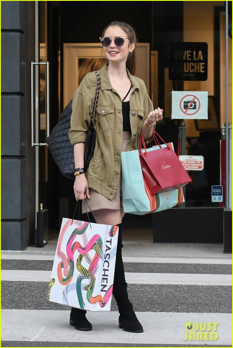 lily collins spends her day shopping in beverly hills 014188868