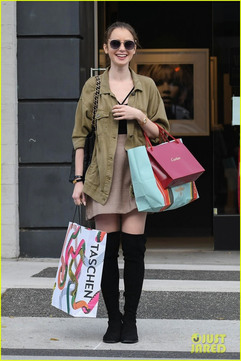lily collins spends her day shopping in beverly hills 054188872