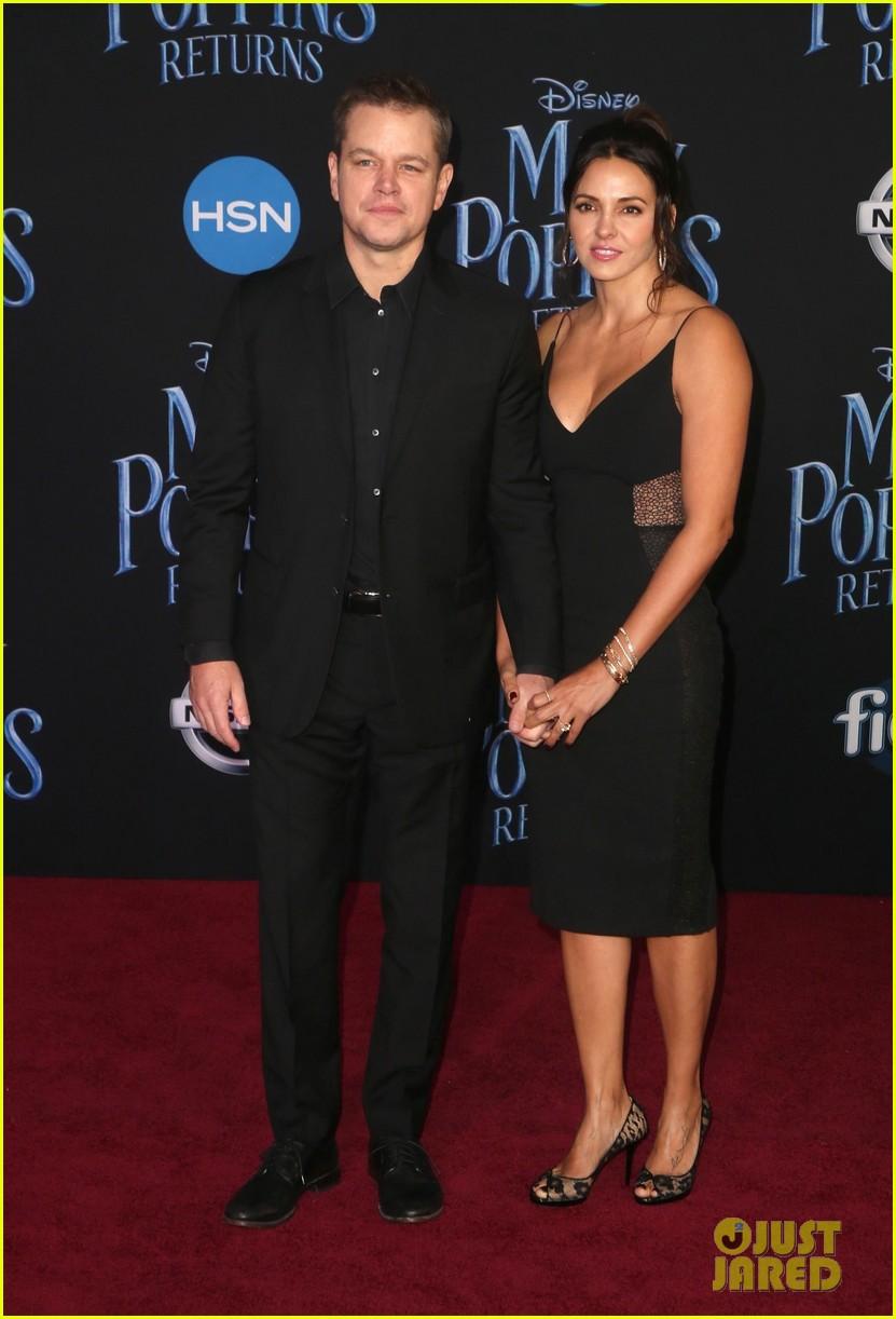 Matt Damon & Wife Luciana Support Friend Emily Blunt at ...