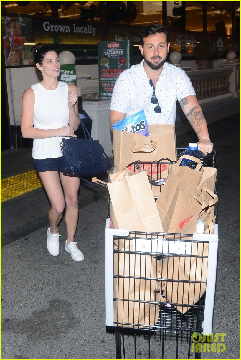 ashley greene and husband paul khoury are all smiles while grocery shopping 05
