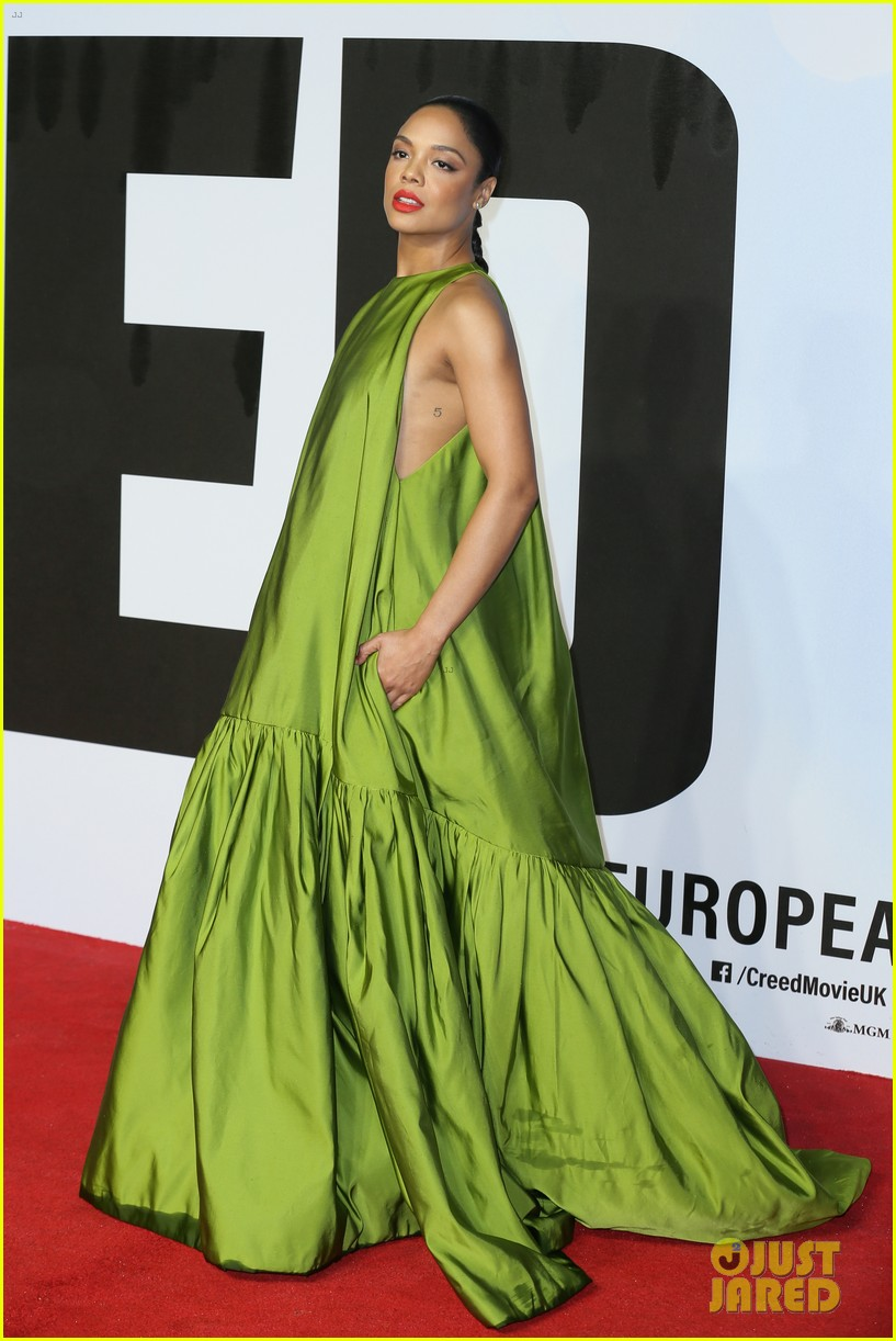 michael b jordan tessa thompson hit red carpet for european premiere of creed ii 074189134
