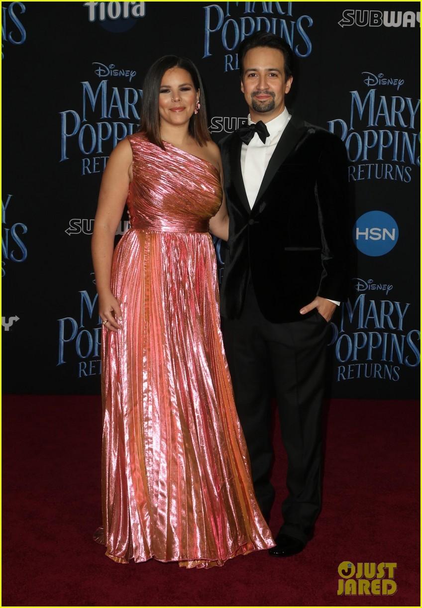 Lin Manuel Miranda Wedding.Lin Manuel Miranda S Wife Vanessa Joins Him At Mary Poppins Returns