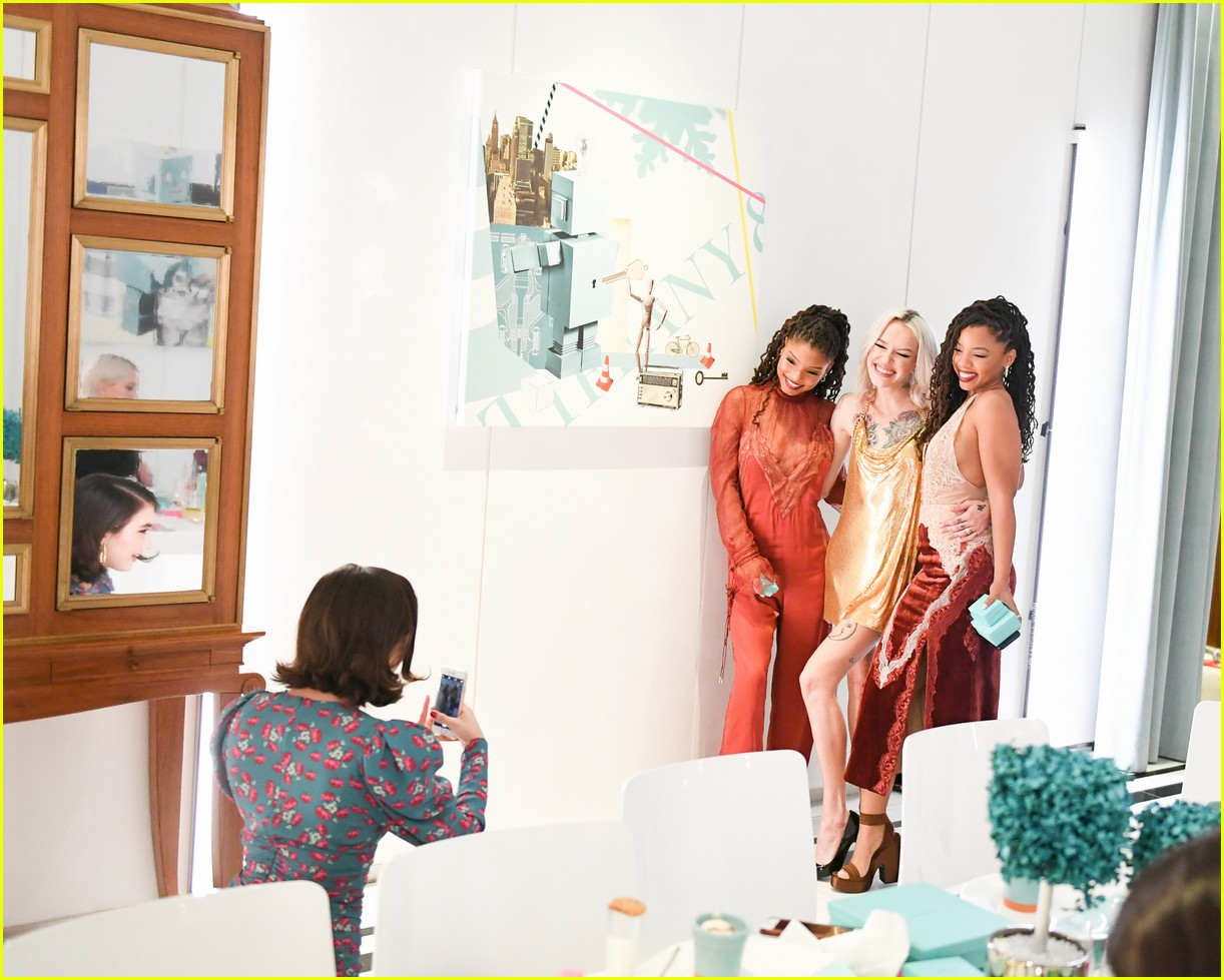 shay mitchell and rowan blanchard have girls night in with tiffany and co 294190541